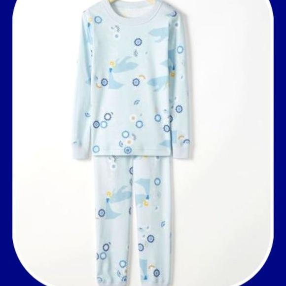 Hanna Andersson Girls Elsa Long Johns Pajama Set NWT